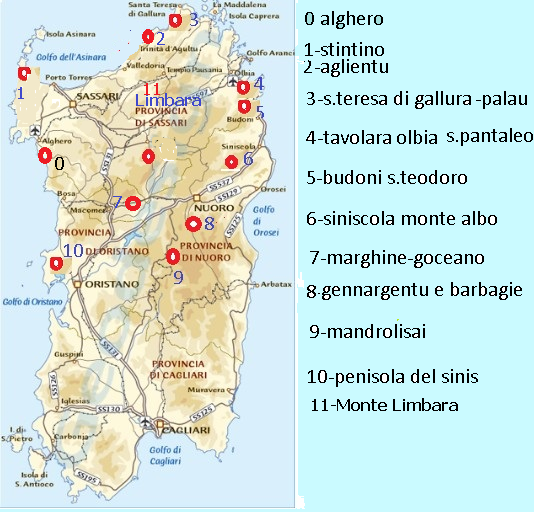 Budoni Sardegna Cartina.La Flora In Sardegna Di Gallieno Corona